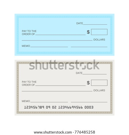blank check template