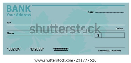 Blank Cheque Template Vector 231777628 Shutterstock – Blank Cheque Template