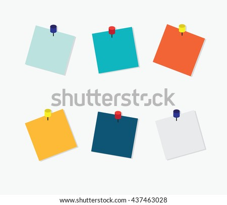 blank colorful sticky notes post note stock vector 2018 437463028 rh shutterstock com post sticky note vector post it note vector free download