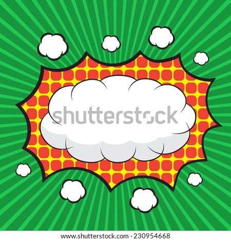 Blank Comic Speech Bubbles Design For Background Strip