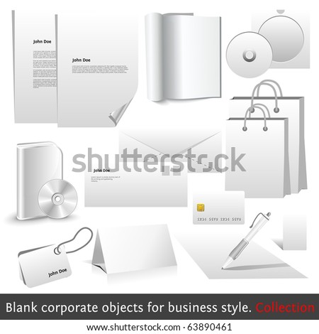 Blank corporate objects for business style. Set of modern  design elements of your design work.