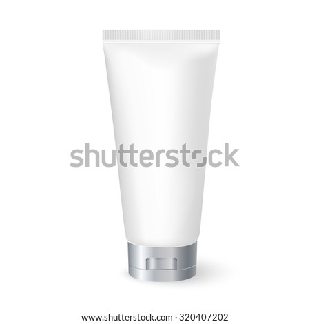 blank cosmetic tube isolated on white background