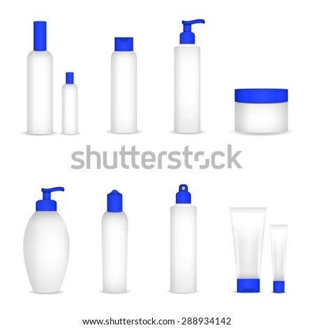 Blank cosmetic tubes on white background. Vector - stock vector