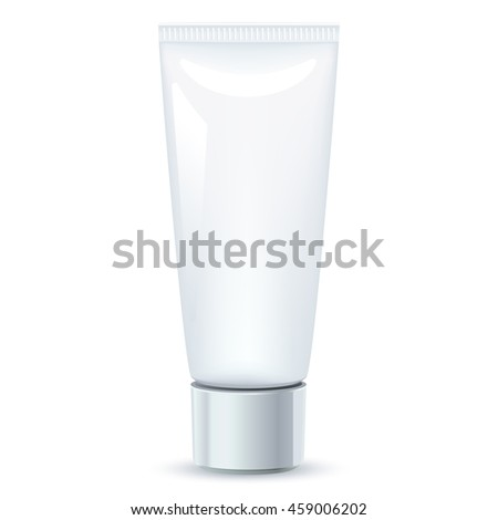 blank cosmetic vector package isolated on white background