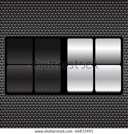 blank counter - stock vector