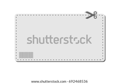 Blank White Advertising Coupon Cut Sheet Stock Vector 129647783
