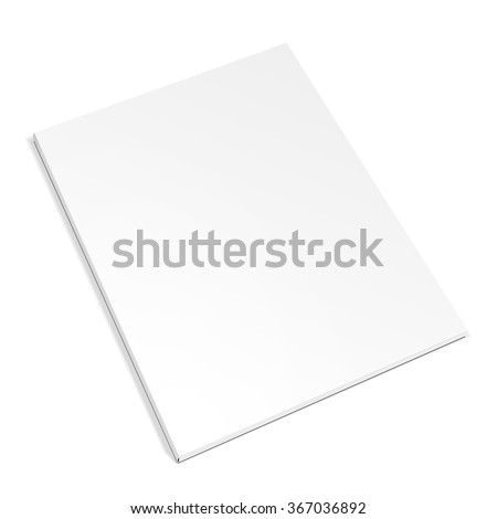 Blank Cover Of Magazine, Book, Booklet, Brochure. Illustration Isolated On White Background. Mock Up Template Ready For Your Design. Vector EPS10  - stock vector