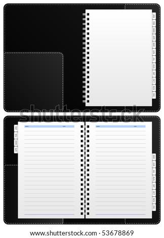 Blank Diary Notebook Vector - stock vector