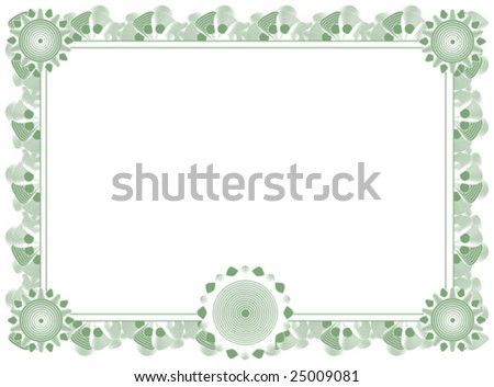 blank diploma template - stock vector