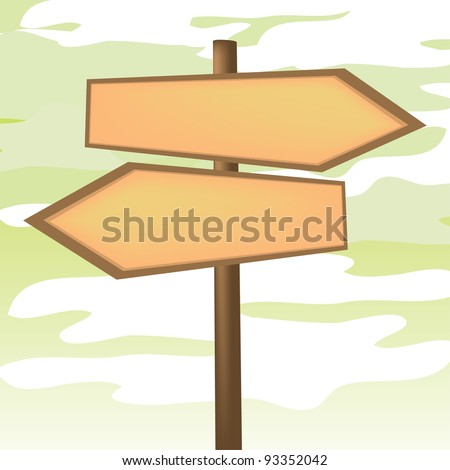 Blank Directional Arrow Sign - Illustration - stock vector