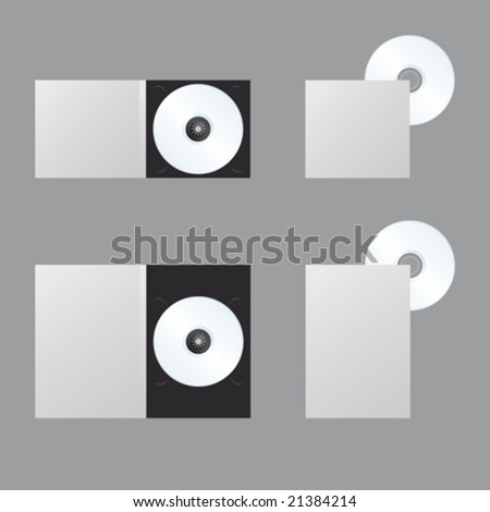 Blank DVD, Blue-ray, CD, Disc: for presentation - stock vector