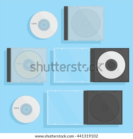 Blank dvd disc with case