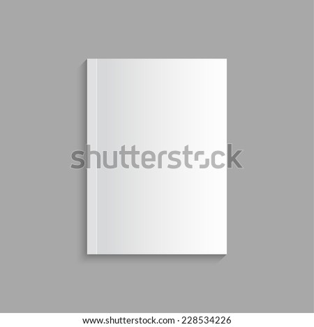 Blank empty magazine or book or booklet, brochure, catalog template  on a gray background. vector - stock vector