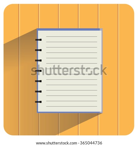 blank empty notebook on wood background vector