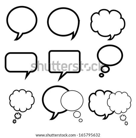 Blank empty speech bubbles  - stock vector
