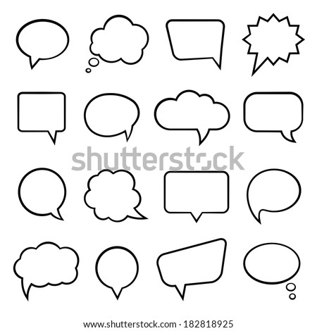 Blank empty speech bubbles infographics vector stock vector hd blank empty speech bubbles for infographics vector illustration ccuart