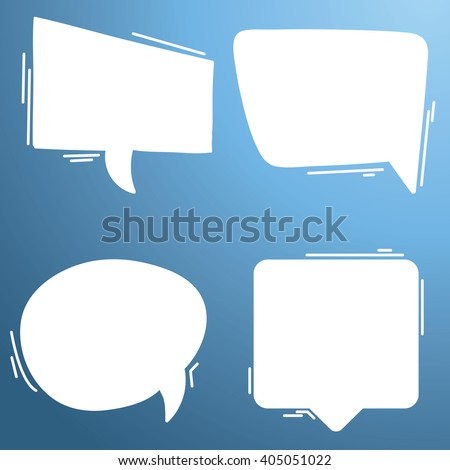 Blank empty speech bubbles icons set great for any use