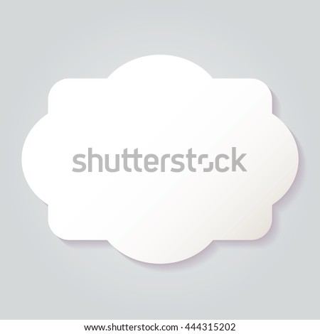 Blank empty white paper frame with soft shadow isolated on gray background. For your text or photo. Vector illustration