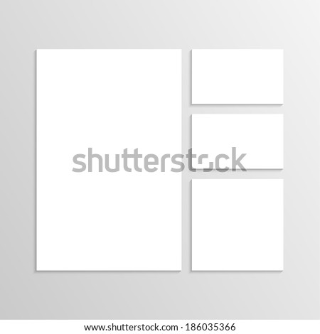 Blank Envelopes Business card and folder. Corporate Identity. Isolate on white background. Layout for your design - stock vector