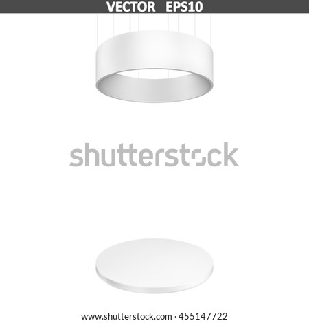 Blank exhibition stand. Illustration isolated on white background. Graphic concept for your design - stock vector