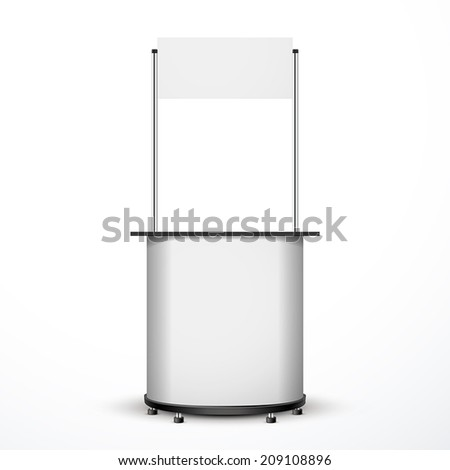 blank exhibition trade stand isolated over white background  - stock vector