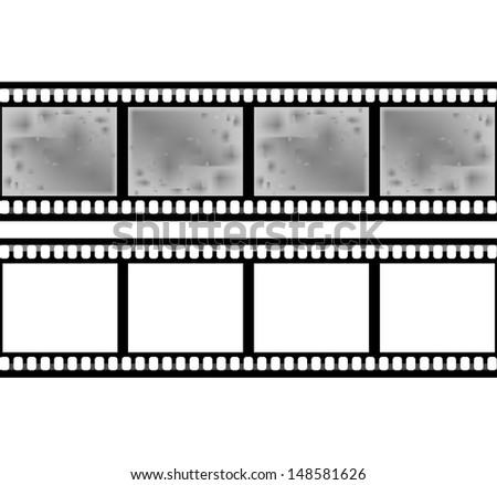 Blank film strip  - stock vector
