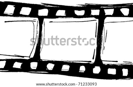 Blank film strip. Vector illustration - stock vector