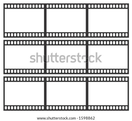 Blank Film strips to be filled (VECTOR) - stock vector
