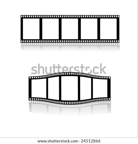 Blank film strips vector (may be tiled horizontally) - stock vector