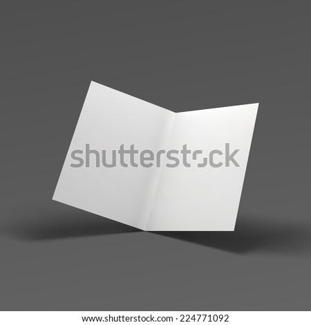 Blank fold paper brochure. Vector Illustration EPS10. - stock vector