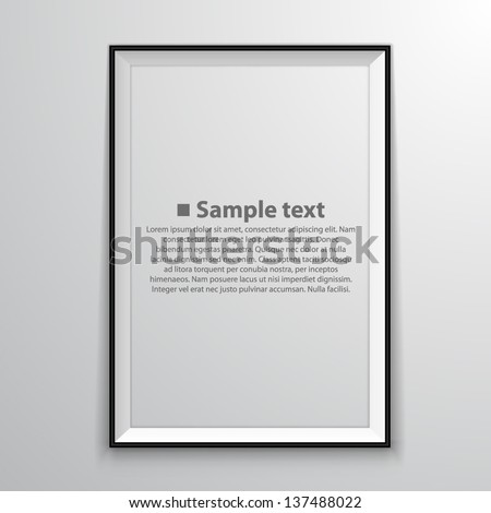 Blank frame on a white background - stock vector
