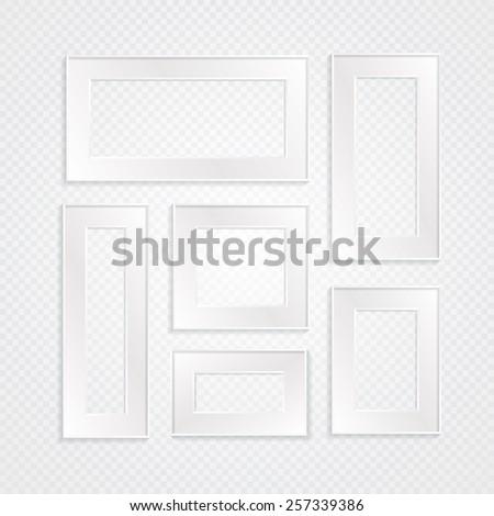 Blank frames vector set. - stock vector