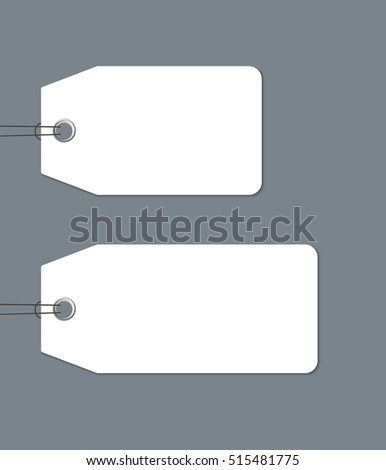 blank gift tags tied string isolated stock vector 515481775