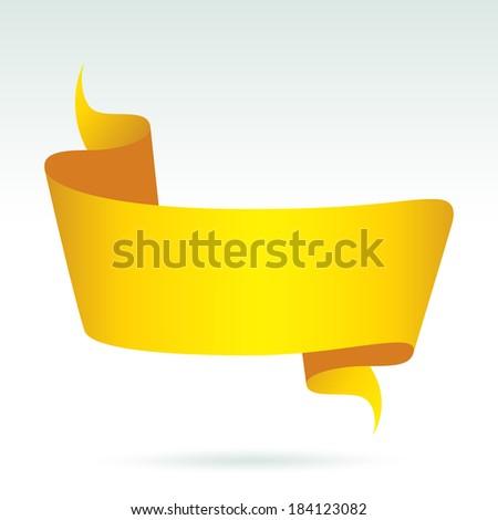 Blank Gold banner. Vector - stock vector