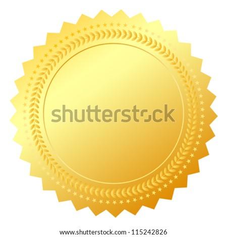 Blank gold token, vector illustration - stock vector