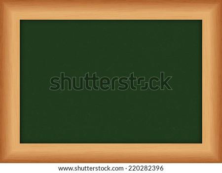 Blank green chalkboard, blackboard - Vector - stock vector