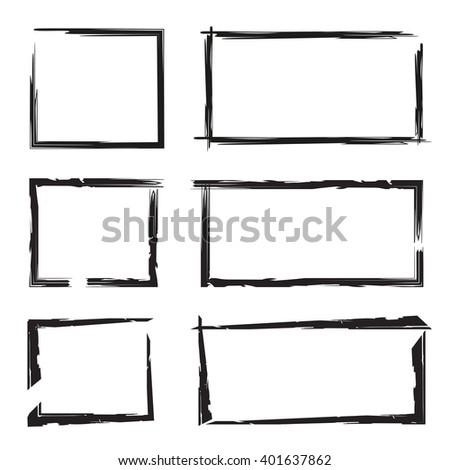 blank grunge frame set - stock vector