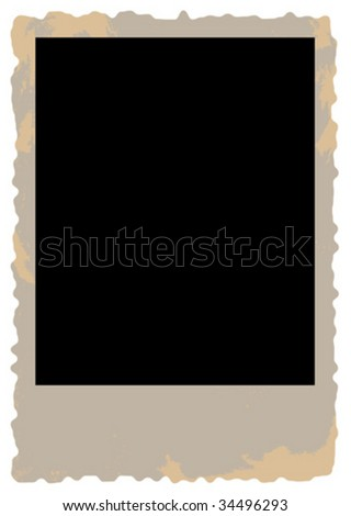 blank grunge photo card vector on a white