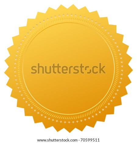 Blank guarantee certificate - stock vector