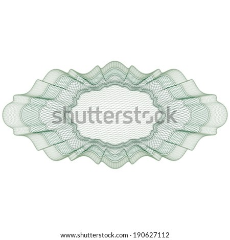 Blank guilloche elements for certificate, diploma, voucher, currency and money design, banknote. / Stock vector / CMYK color / All lines and color are easy editable.  - stock vector