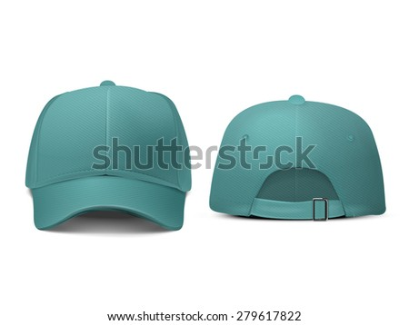 blank hat in turquoise isolated on white background