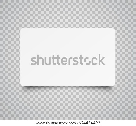 Blank horizontal plastic paper business card stock vector royalty blank horizontal plastic paper business card or name card isolated on transparent background vector reheart Image collections