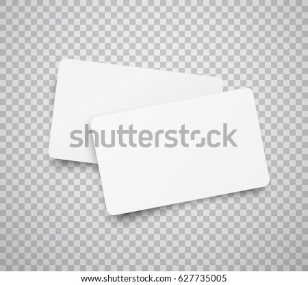 Blank Horizontal Plastic Paper Business Cards Stock Vector 627735005