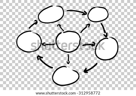 Blank Info graphic (Circle) on transparent effect background  - stock vector
