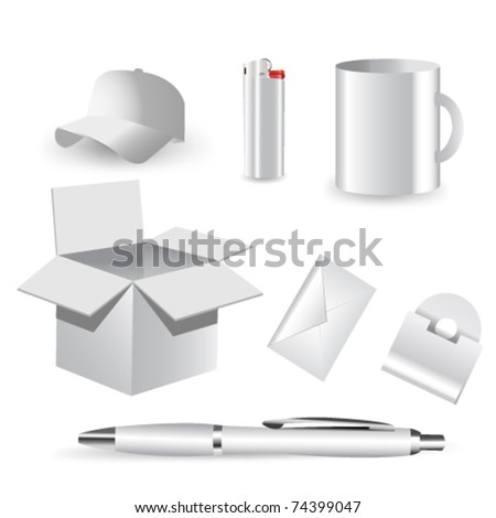Blank isolated vector objects  for your design. - stock vector