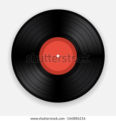 Blank isolated vinyl record - stock vector