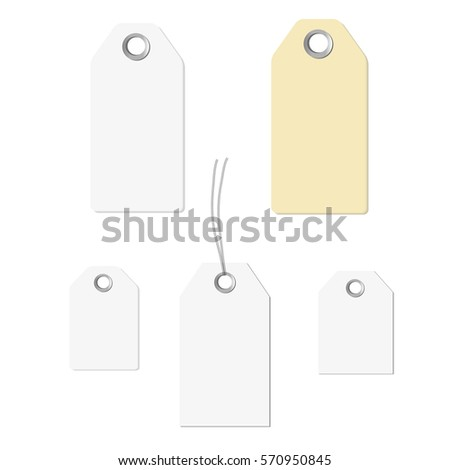 Blank Labels Templateprice Tags Set Isolated Stock Vector HD ...