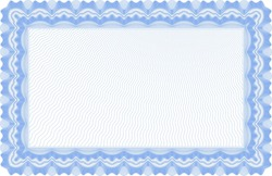 blank light blue horizontal certificate template - Blue Certificate Border Template