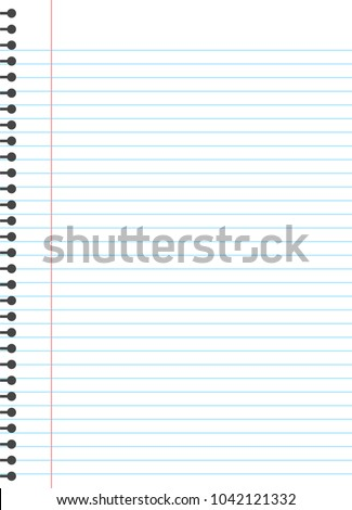 Blank Lined Paper Template One Page Stock Vector