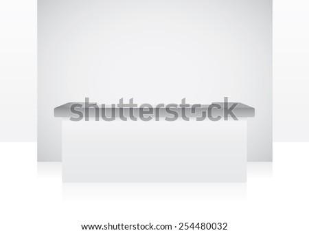 blank lobby template for branding item - stock vector
